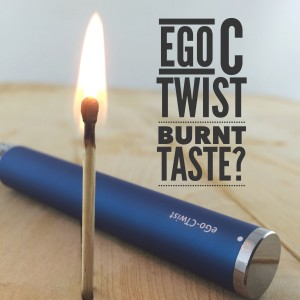 Why Does My Ego C Give a Burnt Taste?