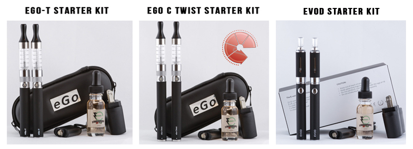 EVOD Vs  eGo-T Vs  eGo Twist – Slim Vape Pen